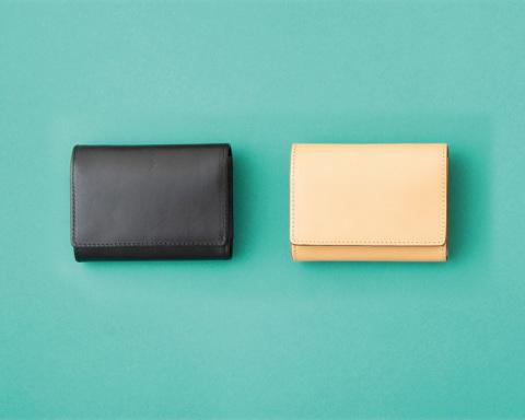 イタリア産ヌメ革 三つ折り財布